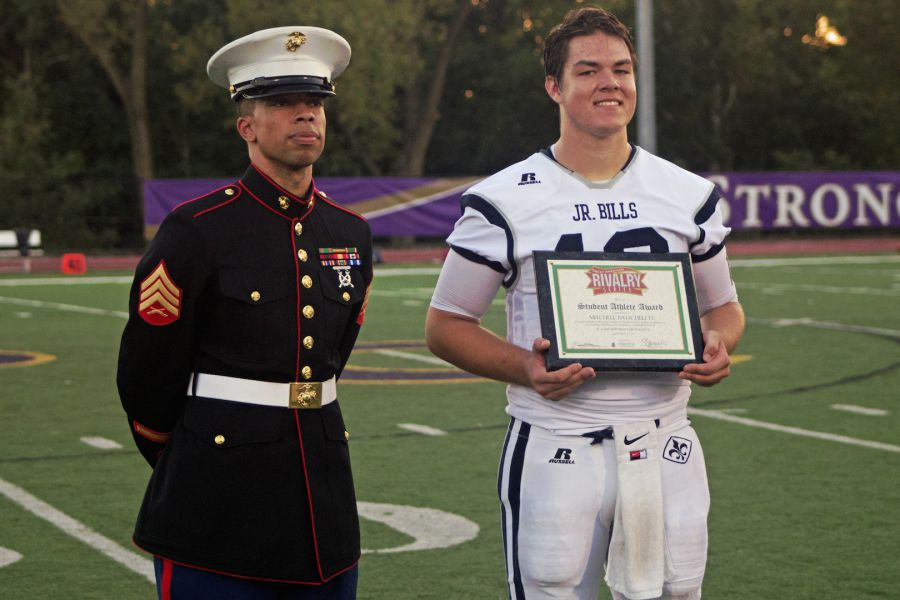 marines host pull up contest give student athlete scholarship